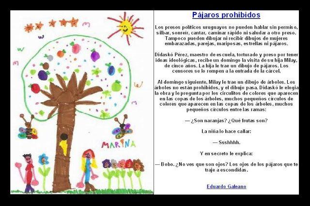 LOS PÁJAROS PROHIBIDOS  (cuento de Eduardo Galeano: 1976, en una cárcel de Uruguay)