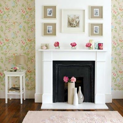 Beautiful Faux Fireplace Idea For The Living Room