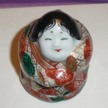 Otafuku as incense container.