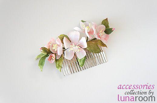 Новое - ободки с цветами, гребни для волос, цветы в прическу! - Блог шоурума LUNAroom.ru