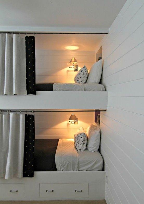 Las 25 mejores ideas sobre literas infantiles en - Habitaciones infantiles 2 camas ...