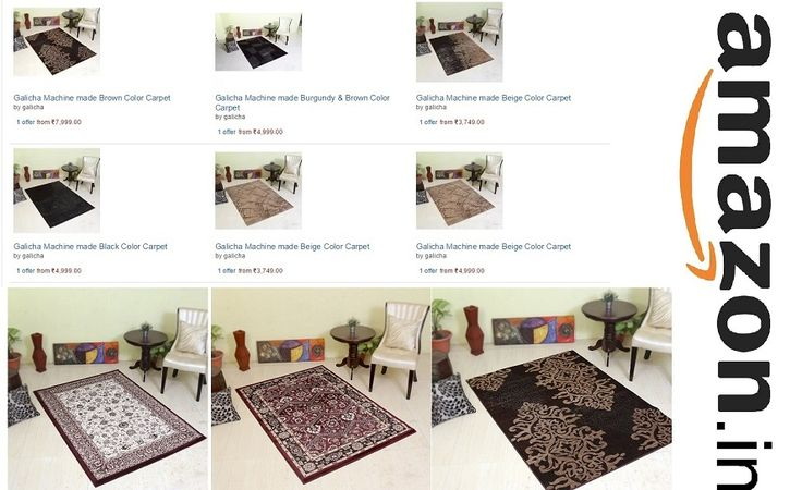 You can buy our #carpets, #arearugs, #shaggycarpets, #rugs in #amazon.in at very attractive #price with great #discounts by following the #image.