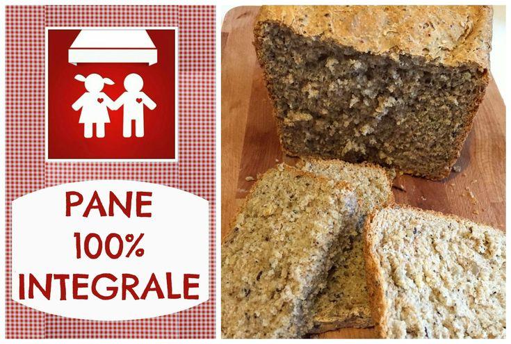 Pane 100% INTEGRALE con macchina del pane  2C+K