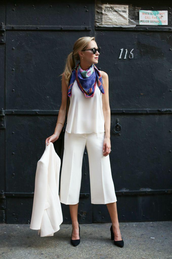 真似したい!素敵な40代の着こなし術♡アラフォー キュロットおすすめコーデ参考です。