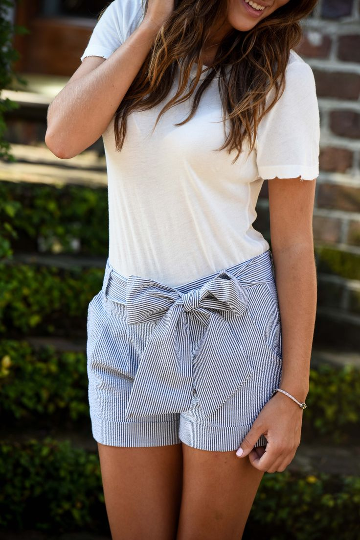 Bow shorts are always appropriate! #LaurenJames #LifeIsBetterInLJ