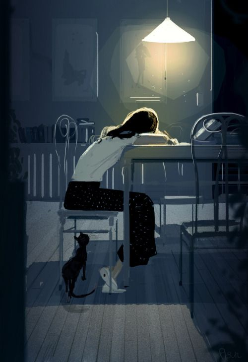 Wednesday night  Middle of the week.. sleepy.  #pascalcampion  - by Pascal Campion: http://ift.tt/2cC8BDa -  ... Kunst / Art / Zeichnung / drawing / Digital Art / Illustration