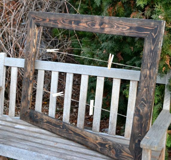 rustic clothesline picture frame for wedding seating chart from etsy.