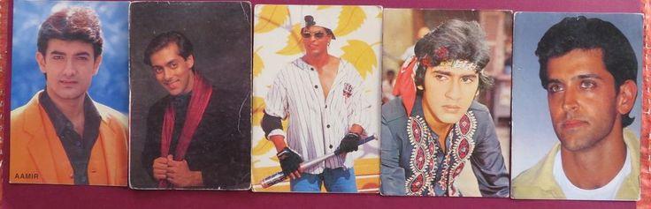 SHAHRUKH KHAN SALMAN AAMIR HRITHIK KUMAR GAURAV BOLLYWOOD Picture postcard  5x