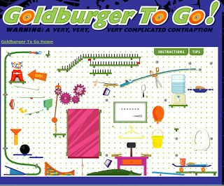 Websites where students can design a Rube Goldberg machine.
