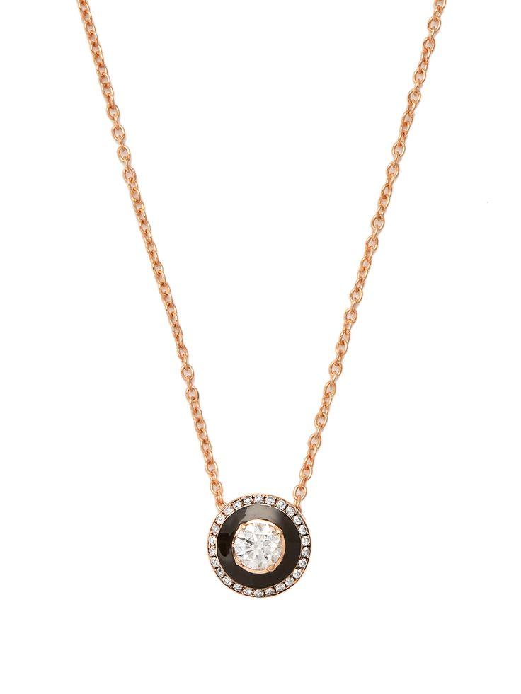 Selim Mouzannar Diamond, enamel & pink-gold Mina necklace
