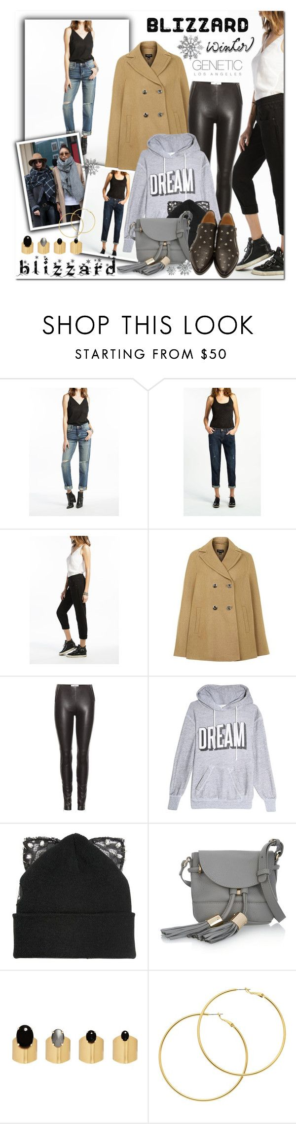 """""""Brrrrr! Winter Blizzard"""" by sweetsely ❤ liked on Polyvore featuring Topshop, Maison Margiela, Wildfox, Silver Spoon Attire, See by Chloé, Ela Stone, Melissa Odabash, Jimmy Choo, Genetic Denim and polyvoreeditorial"""