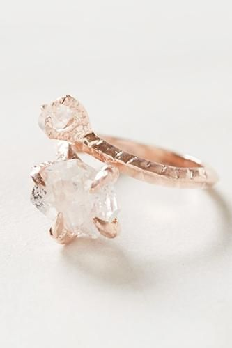 I don't knowwhere one would even find a ring like this, but my jaw dropped when I saw it. I really love raw diamonds