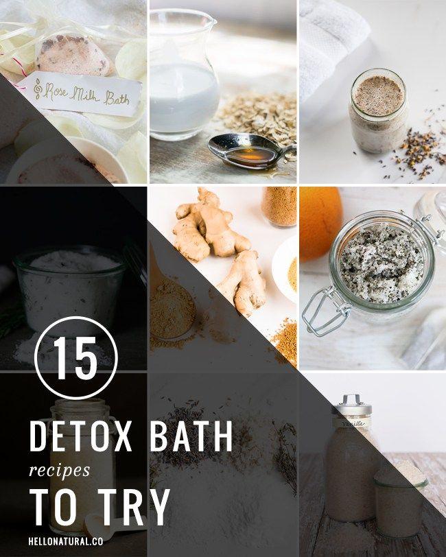 15 Detox Bath Recipes   HelloGlow.co