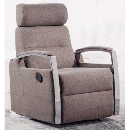 Si buscas además de un Sillón Relax y además que sea cómodo para cuando llegues a casa de un día duro, este sillón cumple todas esas funciones. Está disponible en tres colores: moka, ceniza y marengo. Bonitos reposabrazos cromados y tapizados a juego.