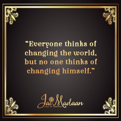 Everyone thinks of changing the world but no one thinks of changing himself. #QOTD #Inspiration https://t.co/6KQtNf8Fl2