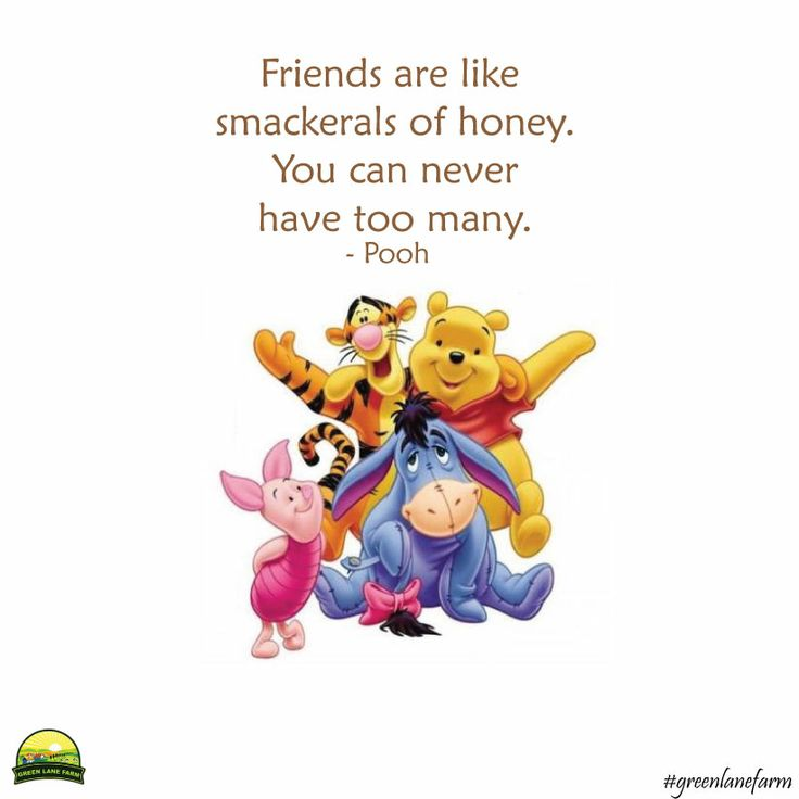 """Friends are like smackerals of honey. You can never have too many."" ~ Pooh  #greenlanefarm #friends #quotes"