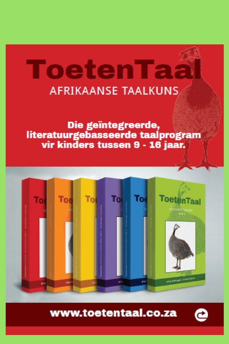 Toetentaal Afrikaanse taalkuns vir kinders tussen 9 en 16 jaar.