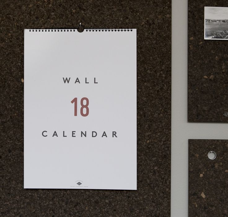 Wall Calendar 2018 by Low Key. Available at www.grandpastore.com.