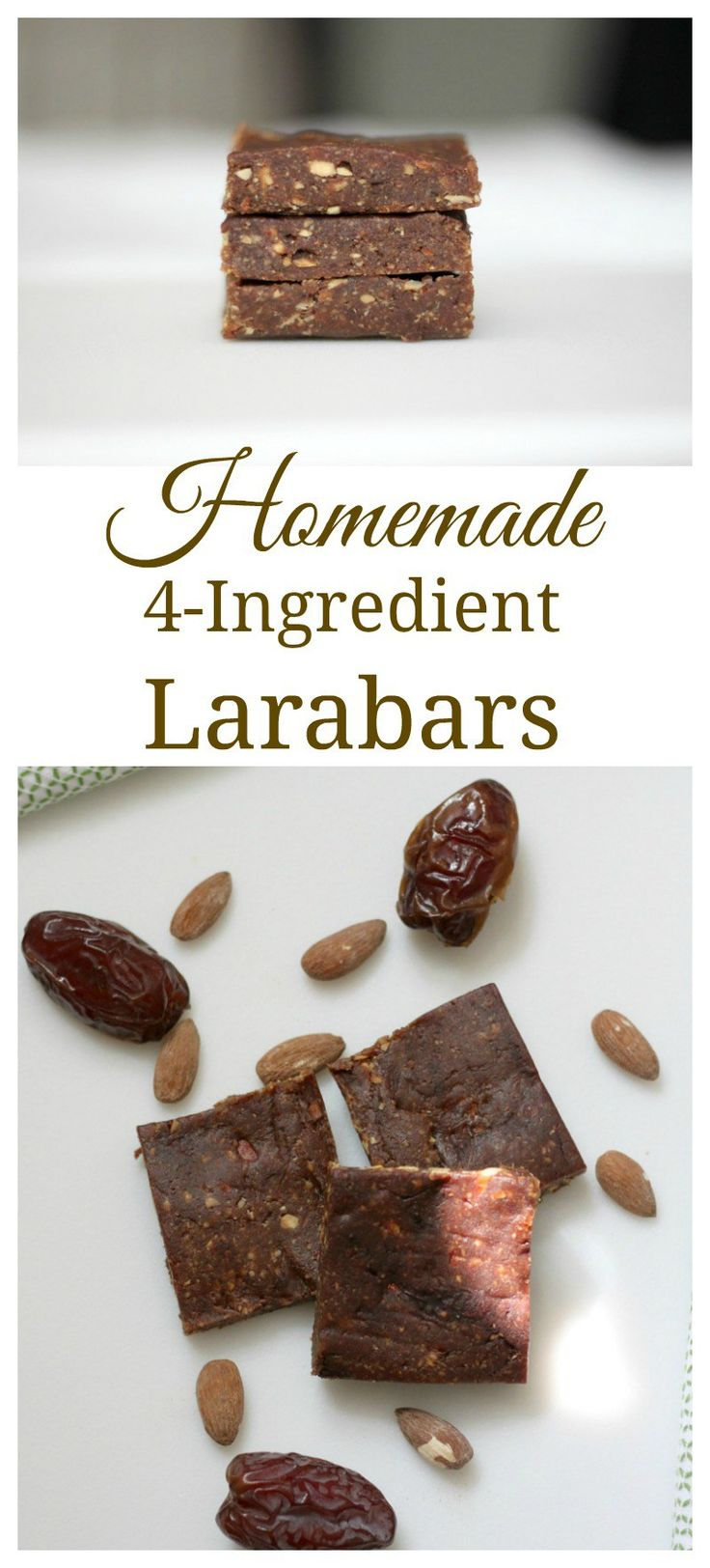 homemade Larabars are so easy to make and taste exactly like the ones you buy at the store. #homemade #cleaneating