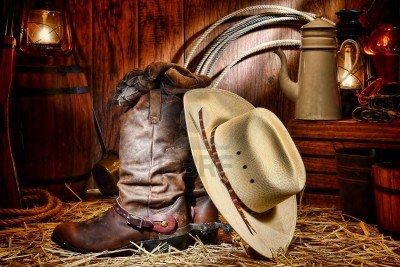 American West Rodeo Cowboy Traditional White Straw Hat Resting.. Royalty Free Stock Photo, Pictures, Images And Stock Photography. Image 11648225.