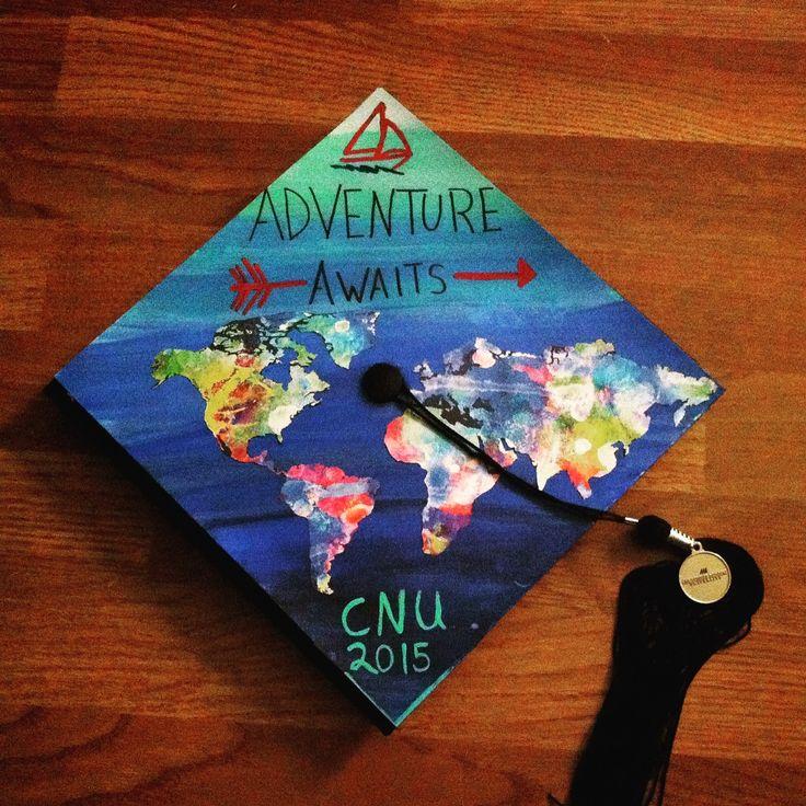 CNU 2015 Graduation Cap travelbug AdventureAwaits Sailor