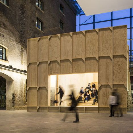 Fun Pop-up auditorium by Black Maria by Richard Wentworth and GRUPPE