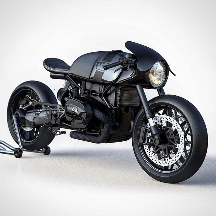 BMW R NineT concept with conventional forks.