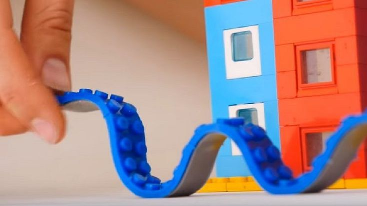 Kick Up Your Lego Game By Building Things on The Walls With This New Tape #DIY #art #building #diy #LEGO