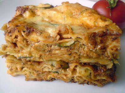 Paprikás krumpli: Lasagne cukkinivel