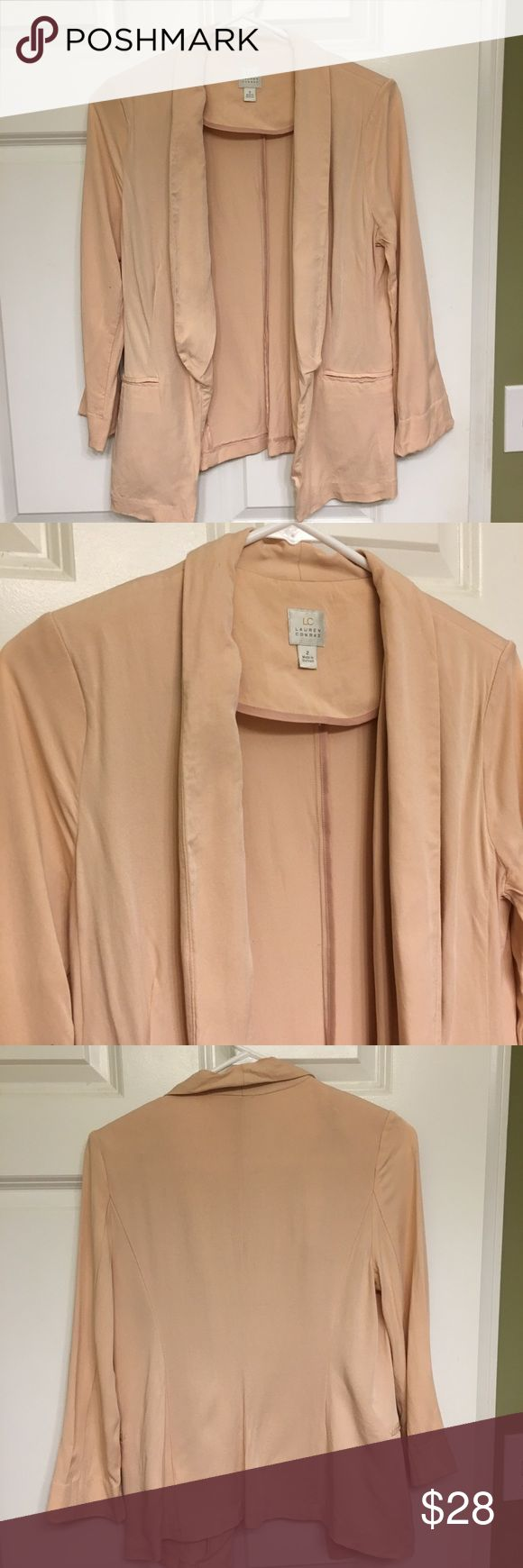 Peach Blazer Great for work! Worn once for an interview. LC Lauren Conrad Jackets & Coats Blazers