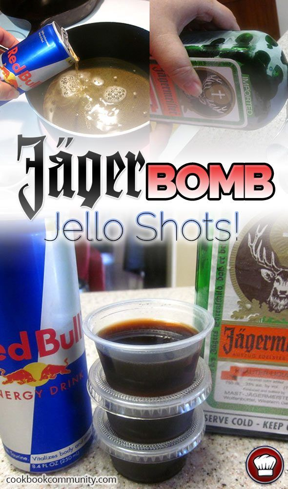 Jager Bomb Jello Shots