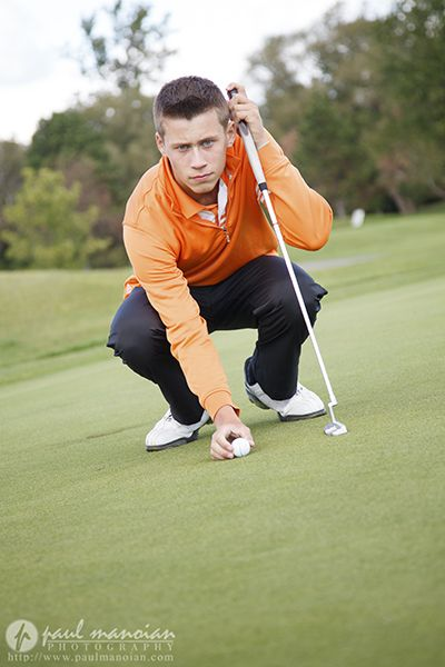 Golf Senior Pictures   Metro Detroit Senior Portraits Photographer
