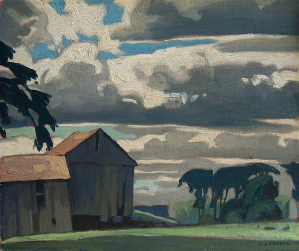 Alfred Joseph Casson, 'Late Afternoon Sky, Ontario Farm' at Mayberry Fine Art