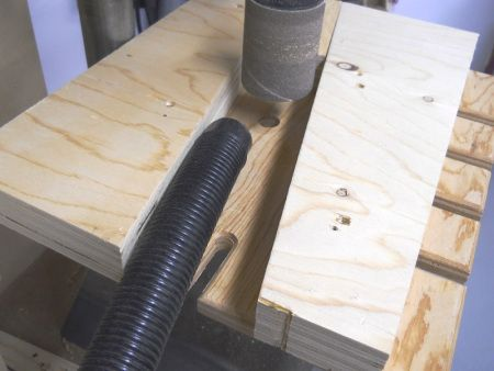 Drill Press Sanding Drum Vac Funnel / Aspirate sanding dust from drill press