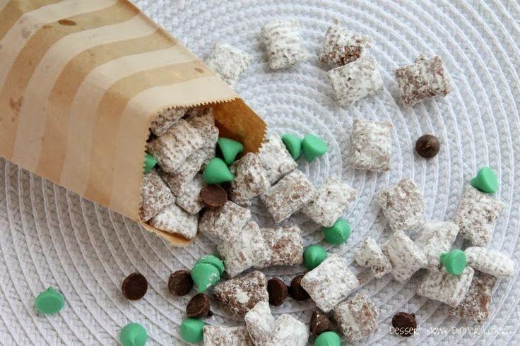 Dessert Now, Dinner Later!: Mint Truffle Muddy Buddies