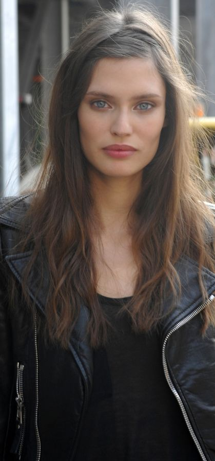 Bianca Balti - Good idea for days when you don't want bangs in your face.