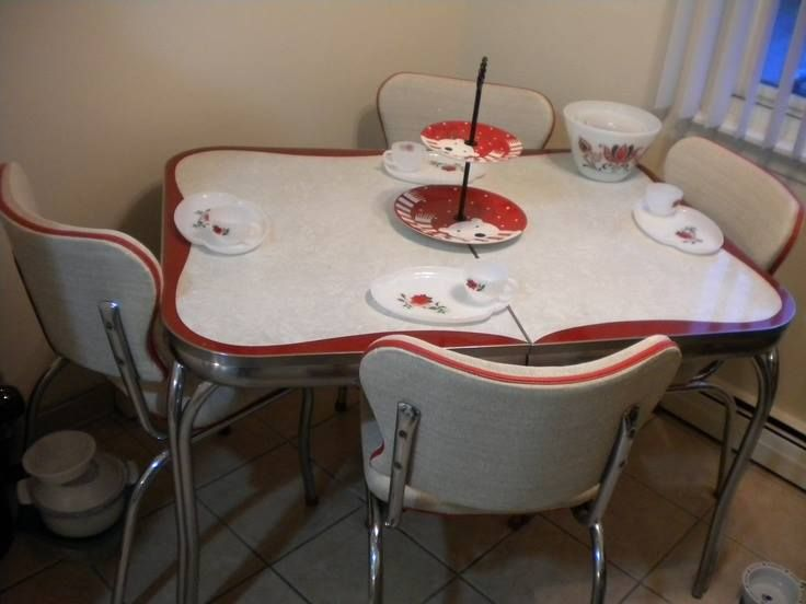 Pin by jacqueline cr tes on ensemble de cuisine table et for Table de cuisine formica