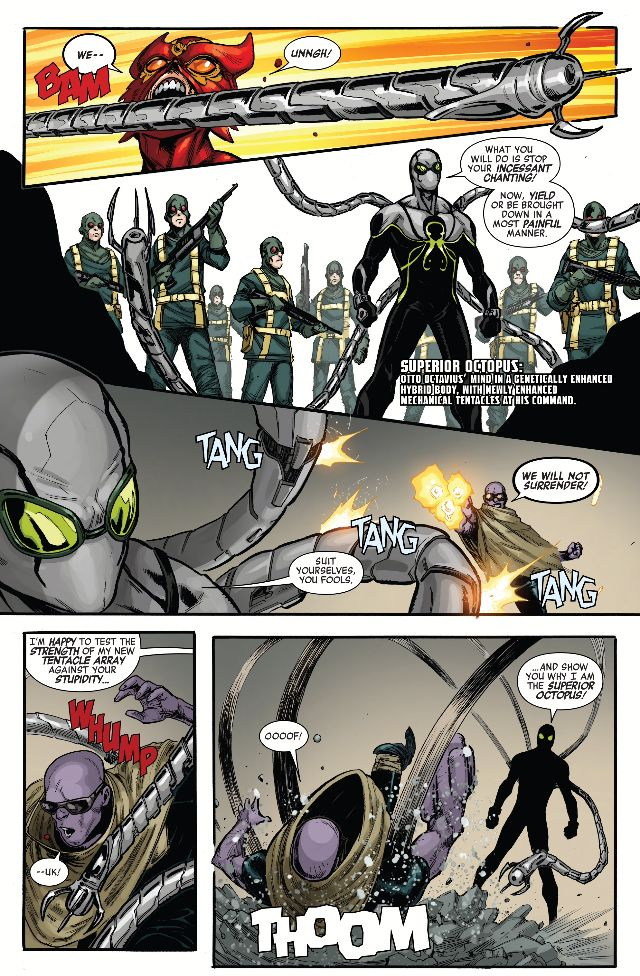 Otto Octavius has a new body and new tentacles. He is the Superior Octopus.~ Secret Empire United #1