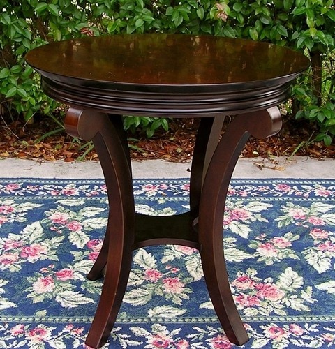 Bombay Company Solid Mahogany Round End Table