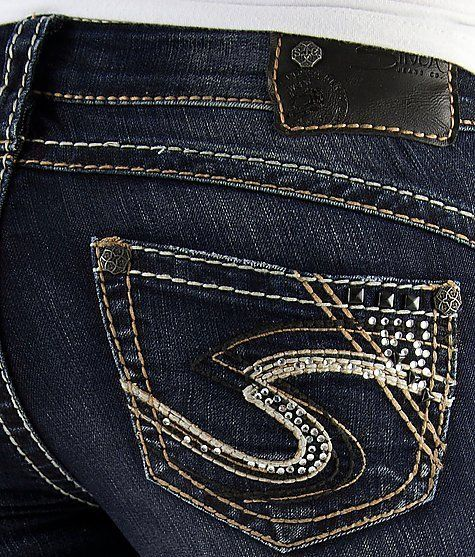 NWT Women's SILVER JEANS Low Rise Tuesday Slim Baby Boot Stretch Jean 29 x 33⚜ #SilverJeans #BootCut