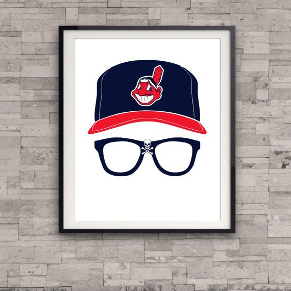 Major League Wild Thing Ricky Vaughn 80s Minimalist Movie Poster Cleveland Indians Wall Art Gift