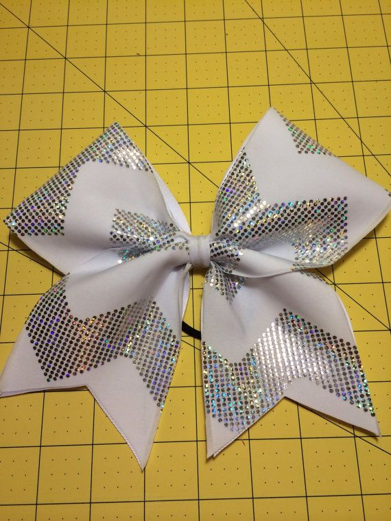 Sparkly chevron cheer bow @Nancy Macedone Cherfoli #cheerleader