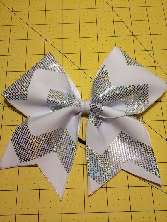 Sparkly chevron cheer bow @Nancy Macedone Cherfoli #cheerleader