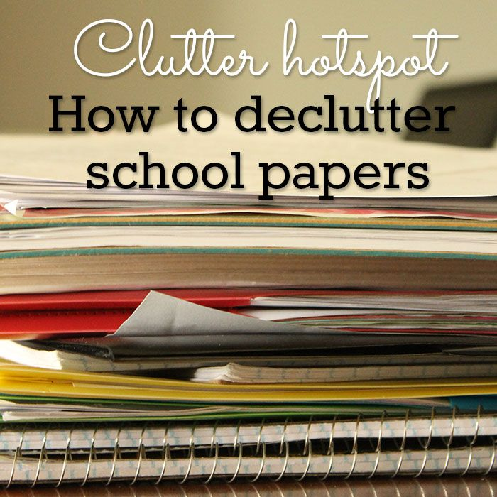 The end of the school year means piles of school papers! Here's how to declutter and organize your kids school work.