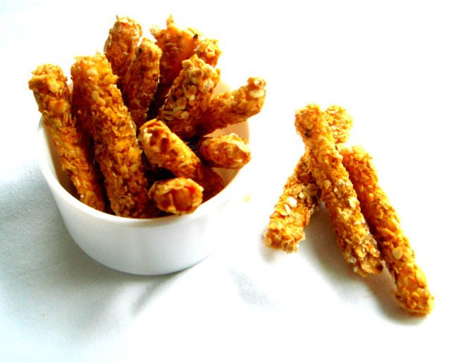 Baked Oats Crusted Paneer Fingers | Baking | Pinterest | Baked oats ...