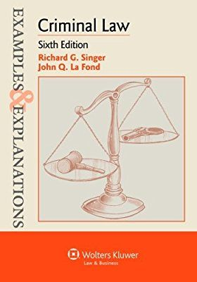 """Crim Law E&E: Excellent book to help you better understand criminal law concepts! In my experience, many professors seem to teach directly from a supplement. If you find the right supplement, you've cracked the code to their teaching. My professor did not use this book (she used LexisNesix's """"Understanding Criminal Law"""" series). However, I also had this book and it was very helpful! I would feel completely confident recommending this book to a friend"""