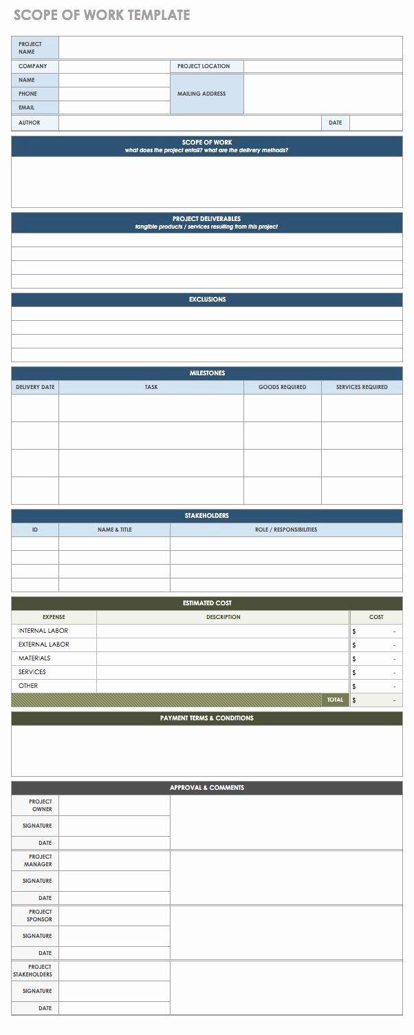 Simple Statement Of Work Template Best Of Free Statement Of Work