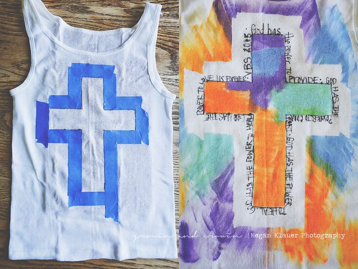 Growin & Crowin | A personal farm / homesteading blog of Megan Klauer Photography | VBS Tshirt craft