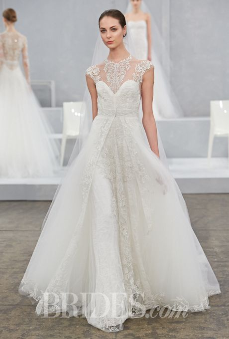 Monique lhuillier spring 2015 monique lhuillier for Monique lhuillier wedding dress