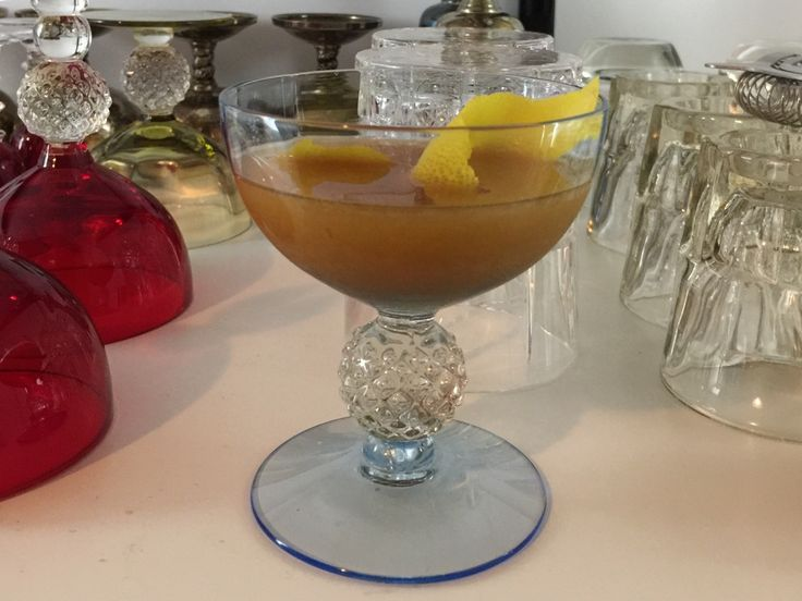 Japanese Cocktail (Jerry Thomas Bartender's Guide 1862) #cocktails #drinks #HappyHour #food #sun #lunch #bar #London